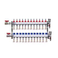 "Distribuitor set complet  1"" / 12 circuite cu conectori EK x 16 mm, Daver"