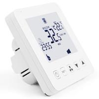 Termostat smart, programabil prin telefon, pentru ventiloconvectoare, Daver DVR.08AC-4 WIFI