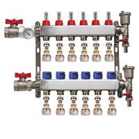 "Distribuitor set complet  1"" / 6 circuite cu conectori EK x 16 mm, Daver"