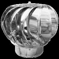 Capac terminal rotativ din inox pentru cos de fum  Ø130 mm