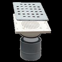 Sifon terasa patrat 280x280 mm cu iesire verticala Ø110 mm
