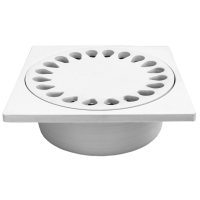 Sifon pardoseala din ABS 300x300 mm  cu iesire verticala Ø110 mm pentru pardoseala
