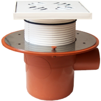 Sifon terasa cu inaltator, o intrare si o iesire Ø50 mm