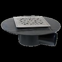Sifon izolabil inox 120x120 mm cu iesire laterala Ø50 mm pentru pardoseala