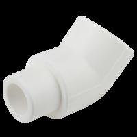 Cot PPR alb Ø25 mm la 45° interior-exterior