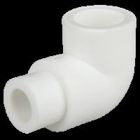 Cot PPR alb Ø32 mm la 90° interior-exterior