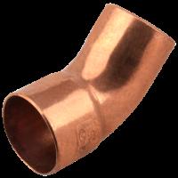 Cot cupru 18 mm / 45° interior - exterior