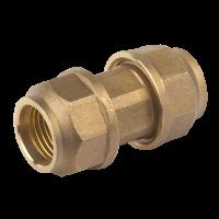 Mufa rapida dubla bronz pentru teava PVC Ø25 mm